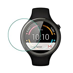 9H Premium Quality Tempered Glass Screen Protector for Motorola Moto 360 1st Generation
