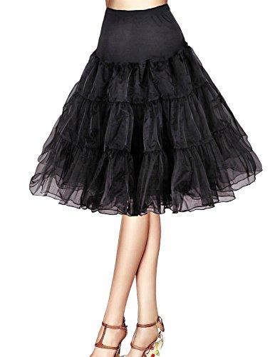 Phoenix® Petticoat Unterrock Reifrock tüllrock petticoat krinoline kleid 50er hoopless Vintage Swing für Tüllrock Petticoat-Röcke Tutu (XS-M, (Frauen Phoenix Kostüm)