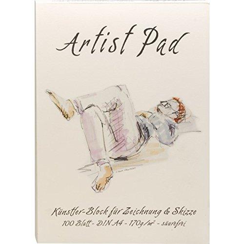 182214 - Künstlerblock Artist Pad - DIN A4 - 100 Blatt - 170 g/m² - chamois farbenes Skizzenpapier...