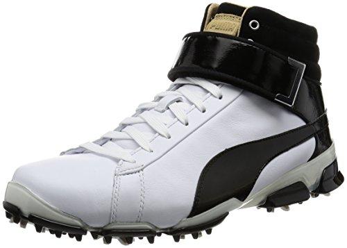 Puma titantour Ignite High Top Rickie Fowler Golf Schuhe Weiß/Schwarz 7 UK Weiß - weiß / schwarz