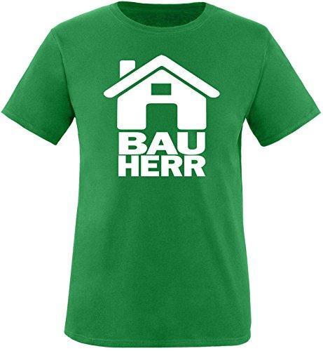 Luckja Bauherr Herren Rundhals T-Shirt Gruen/Weiss