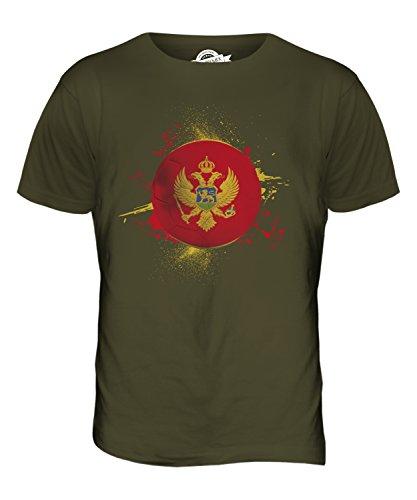 CandyMix Montenegro Fußball Herren T Shirt Khaki Grün
