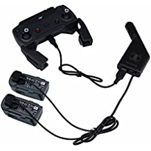 ZEEY Cargador de coche para DJI Spark Drone batería / controlador remoto Adaptador de coche con puerto de carga de la batería y puerto de carga USB (2 Battery + 1 USB Charging Ports)