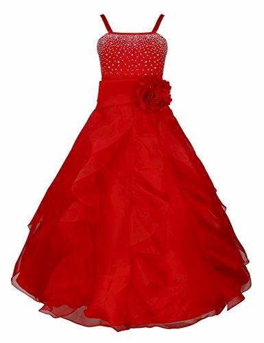 iEFiEL Mädchen Kinder Kleider Festlich Lang Brautjungfern Kleid Prinzessin Hochzeit Party Kleid Gr....