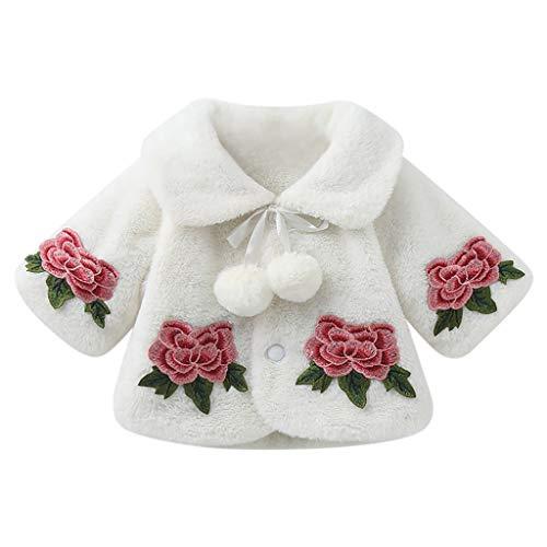 LEXUPE Neugeborenes Baby 4-teilig Daddy Little Princess Strampler Kleidung Blumenhose Set mit Stirnband und Hut(B-Weiß,80)