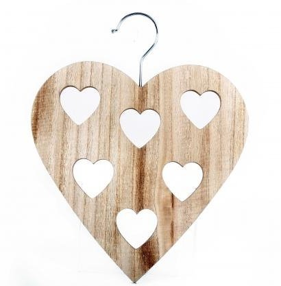 Scarf Holder - Wooden Heart - Buy Online in Oman  | sifcon