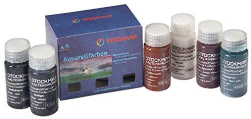 Stockmar Aquarellfarbe 20 ml, Ergänzungs-Sortiment 6 Farben im Kartonetui