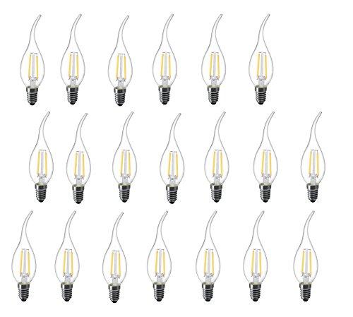 l-hm C35Flamme Spitze LED-Leuchtmittel für Vintage Antik Kronleuchter und Kandelaber 2W 2700K E12Basis (20Stück) - 2 Stück Tröster