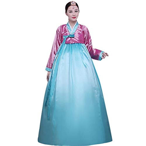 60d198faed XFentech Ladies Korean Traditional Hanbok Set - Long Sleeve Photography  Ancient Dress Cosplay Costume, Dark