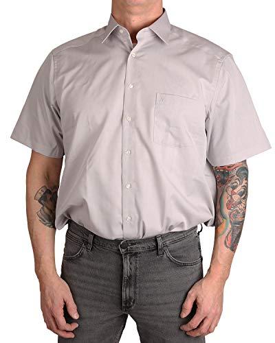 Marvelis Hemd Comfort Fit hellgrau, Einfarbig, Größe 44 - XL (Größe 44 Herren)