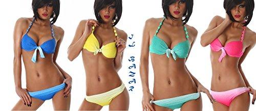 IL BAZAR Damen Bikini-Set verde menta sfumato verde pastello