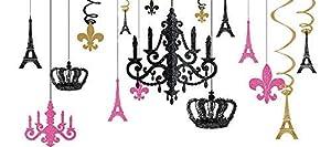 Amscan International-241674un día en París con purpurina lámpara de araña Kit
