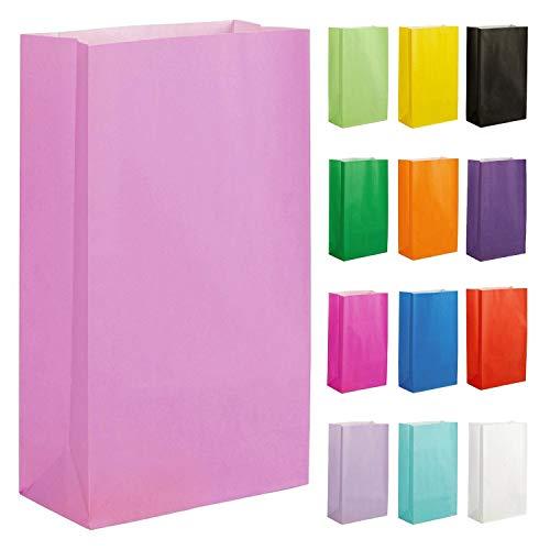 Thepaperbagstore 15 Papiertüten für Partys und Geschenke - Rosa - 140x245x70mm
