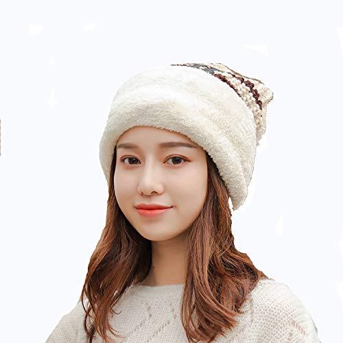 Nosterappou Gemütliche und atmungsaktive Herbst und Winter süße und schöne Dicke warme Ohrenschützer für einen Winter (Farbe : Beige)