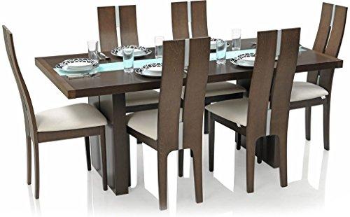 Royal Oak Tosh Six Seater Dining Table Set (Walnut)