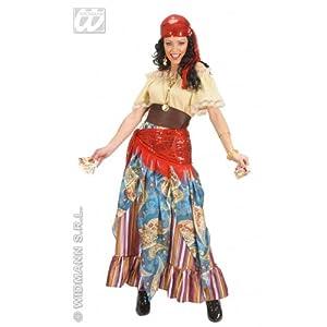 widmann-wdm9060°F disfraz Adulto Unisex, Color Beige Rojo Azul, wdm9060°F