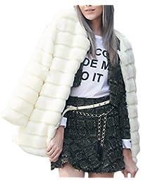 vlunt piel chaqueta Abrigo de piel chaqueta de invierno mujer Parka Abrigo de pelo sintético