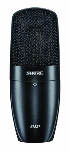 Shure SM27-LC - Micrófono (Studio, 20-20000 Hz, XLR-3, Alámbrico, Cardioid, Negro)