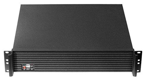 RackMax RM-1921 19 Zoll Server-Gehäuse 2HE, Micro-ATX, Mini-ITX, 2x 3,5 Zoll, 1x 5,25 Zoll, 4x Low Profile Slots, 2x Front-USB, schwarz