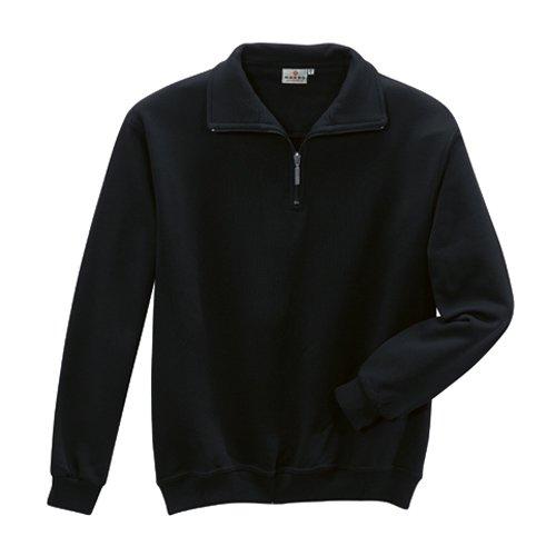 HAKRO Zip-Sweatshirt, schwarz, Größen: XS - XXXL Version: XXL - Größe XXL