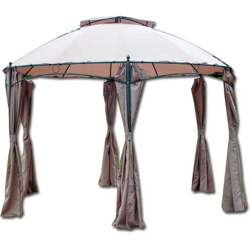 Gazebo in alluminio gotic esagonale Ø mt 3,50 tenda da giardino gazebi esterni