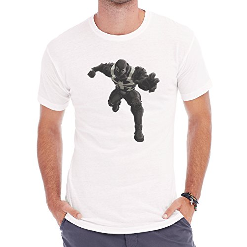 Spiderman Peter Parker Super Heroe Venom Running Herren T-Shirt Weiß