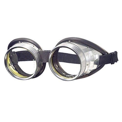 WELDINGER Schraubringbrille / Korbbrille mit klaren Gläsern VSG Sicherheitsglas splitterfrei (Torten Tag Kostüm)