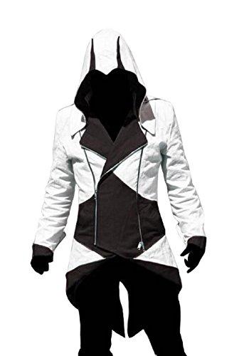 in's Creed ( schwarz und weiß Größe Xxxl ) (Assassin Creed Halloween-kostüm)