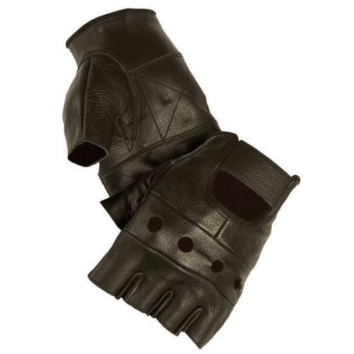 GEAR - Gants Mitaines 100% Cuir US Army - Coloris Noir - Taille S - Airsoft - Paintball - Outdoor - Moto - Conduite - Biker
