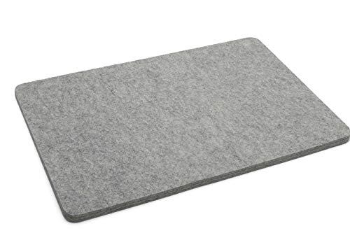 Sitzunterlage 100% Wolle 1,3cm dick Stuhlkissen Stuhlauflage Bankauflage Wollfilz (45 x 30 cm)