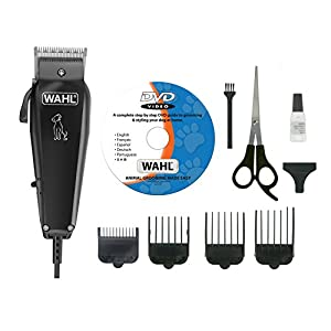 Wahl Multi Cut Mains Dog Clipper Set and Instructional DVD, Black