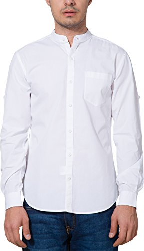 Highlander Men's Casual Shirt (13110001455740_HLSH008832_X-Large_White)  available at amazon for Rs.399