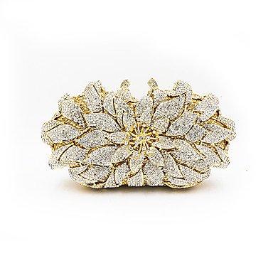 KUKIE Best 4U® Damen Taschen Metall Abendtasche Kristall Verzierung Blume(n) für Hochzeit Veranstaltung Fest Ganzjährig Gold -