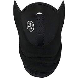 Masque facial en noir parfait pour l'hiver et les sports: ski, snowboard, BMX, vélo, course, randonnée, paintball et activités de plein air - par TRIXES