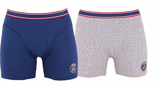 Boxershort 2PSG-offizielle Kollektion PARIS SAINT GERMAIN-Kindergröße Jungen für 4-Jährige Blau - blau