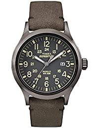 Timex Herren-Armbanduhr Analog Quarz Leder TW4B01700