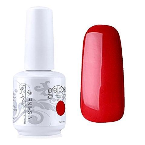 Vishine Vernis à ongles Semi-permanent Gel Polish UV LED Soak