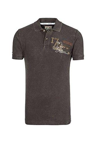 Stockerpoint Herren Poloshirt Braun Samu 112443, Größe L