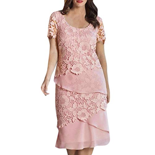 QinMM Frauen Halter Blumenspitze Cocktail Party Kleid Brautjungfer Night Out Plus Kleidung - Womens Cocktail-anzüge