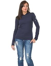 Femmes Hoodie Tops Shirt - Sweat-shirt à Capuche avec print fleur de fée by 3Elfen - dames