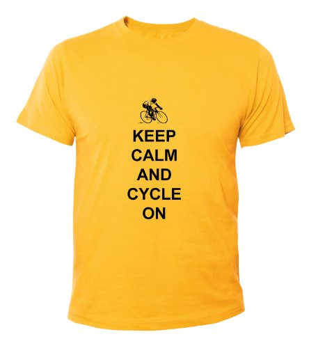 Mister Merchandise Cooles Fun T-Shirt Keep Calm and Cycle on Gelb