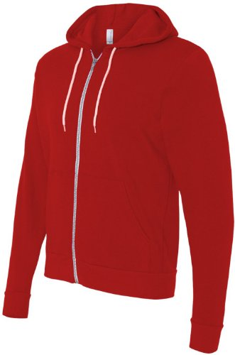 Bella+Canvas: Unisex Poly-Cotton Full Zip Hoodie 3739 Red