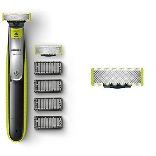 Philips-OneBlade-QP253030-Trimmen-Stylen-Rasieren-4-Trimmeraufstze-Ersatzklinge
