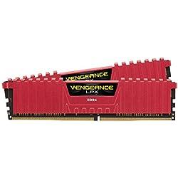 Corsair Vengeance LPX - Módulo de memoria XMP 2.0 de alto rendimiento de 16 GB (2 x 8 GB, DDR4, 2400 MHz, C16), color rojo