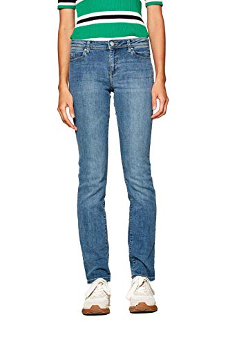 ESPRIT Damen Straight Jeans 998EE1B821 Blau (Blue Light Wash 903) W31/L30 (Herstellergröße: 31/30)