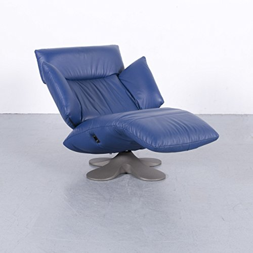 Ligne Roset Designer Leder Sessel Blau Einsitzer Liege Relax Funktion Echtleder #5869 Top Zustand