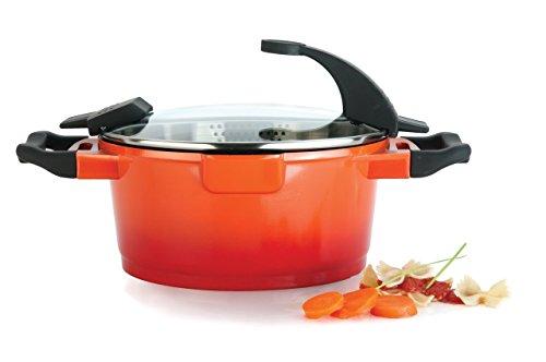 Berghoff Suppen-/ Gemüsetopf mit Deckel, Aluguss, orange, 7.2 cm