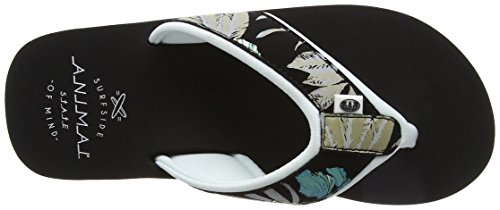 Animal Swish Upper Aop, Sandali Donna Nero (Black)