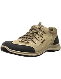 Woodland Men's OGC 3001118_Khaki Leather Sneakers-8 UK (42 EU) (9 US) 3001118KHAKI