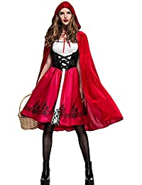 d04ab4ee6b05 Zonsaoja Donne in Costume di Halloween Vestito Cappuccetto Rosso Nightclub  Queen